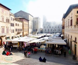 A yearly market in Todi on Saint Martin's day
